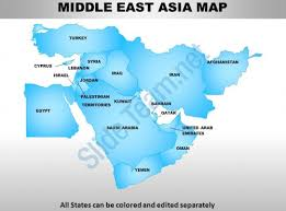 middle east map ppt middle east asia continents powerpoint maps powerpoint templates