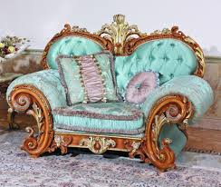 Living Room Blue Sofa by Luxury French Baroque Style Living Room Blue Sofa Set Fancy Palace