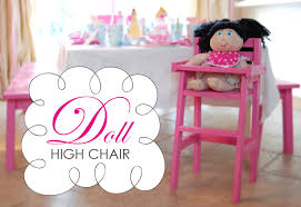 Free Wooden Doll Furniture Plans by Ana White Doll High Chair Diy Projects