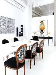 Damask Chair Black And White Dining Table Chairs Room Furniture Chair Cushions