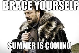 Summer Is Coming Meme - brace yourself summer is coming tea break ned stark quickmeme