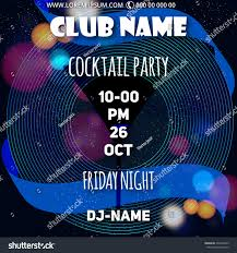 cocktail party party flyer club party stock vector 494478022