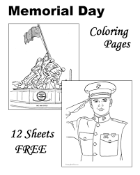 memorial day patriotic coloring pages for kids