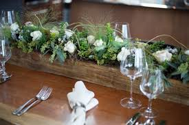 wedding flowers calgary wooden planter centrepiece idea flowers by janie calgary and