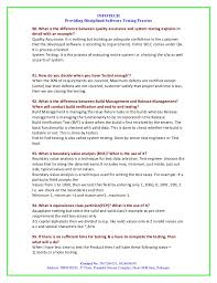 Software Testing Resume Samples by Manual Testing Interview Question By Infotech