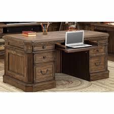 house aria double pedestal executive desk in antique vintage