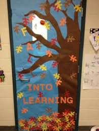 fall door decorations fall classroom door with student made owls teaching