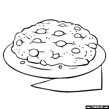 Chocolate Chip Cookie Coloring Page Coloring Cookies