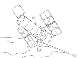 hubble space telescope coloring page free printable coloring pages