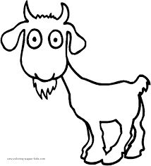 goat color animal coloring pages color plate coloring