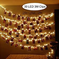 string lights with picture clips amazon com photo clips string lights 40 led 16 4ft starry fairy
