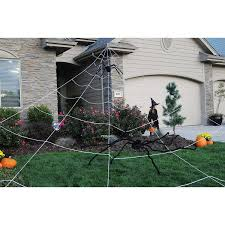 halloween yard decorations amazon com mega spider web outdoor halloween decoration terrify