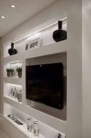 In Wall Shelves by Tv In Wall Made With Gypsum Board Family Rooms Pinterest Tvs