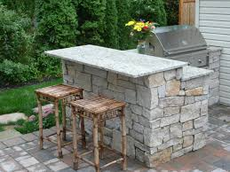 natural stone bbq stand and cooking area pull up a seat