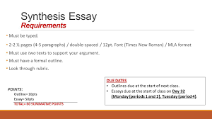 Scholarly Essay Examples Synthesis Essay Prompt Synthesis Essay Argumentative Synthesis
