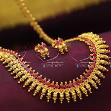 real gold necklace designs images Nl2877 real gold design imitation jewellery haram precious kempu JPG