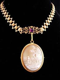 antique gold cameo necklace images 912 best vintagesparkles antique rarities and jewelry on bonanza jpg