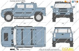 humvee side view the blueprints com vector drawing hummer h2 sut