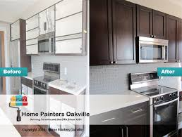 Painted Or Stained Kitchen Cabinets Kitchen Cabinet Painting Oakville U0026 Mississauga Kitchen Painters