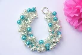 turquoise pearls bracelet images Chunky aquamarine pearl bracelet diyas jewel box jpg