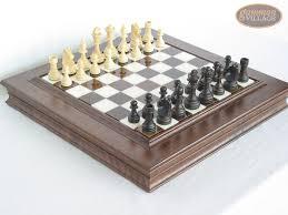 executive staunton chessmen with italian alabaster chess board