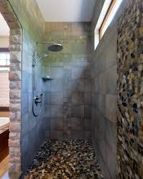 toronto pebble shower floor bathroom rustic with black traditional