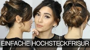 Hochsteckfrisuren Ganz Einfach by Einfache Hochsteckfrisur Für Mittellanges Haar Madametamtam