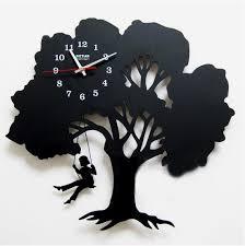 aliexpress com buy modern creative tree shape mute wall clock