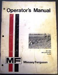 massey ferguson mf 880 moldboard plow operators manual u2022 10 00