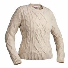 cable sweater crewneck cable knit sweater in ivory boast usa