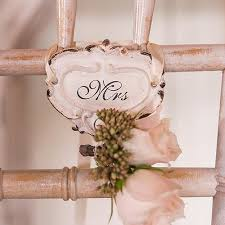 shabby chic hook set with mr and mrs inscription sweet heart