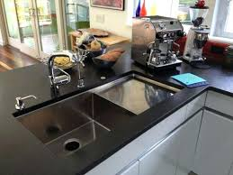 stainless steel countertop with built in sink kitchen sink with built in drainboard dra stainless steel kitchen