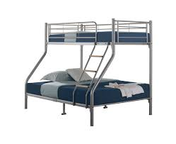 Quality Triple Sleeper Metal Bunk Bed Silver With  Mattresses - Triple trio bunk bed