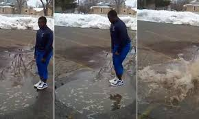 Too Cute Meme Face - teenager jumps into a puddle for a 1 bet and ends up