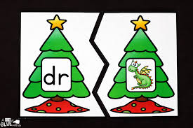 christmas tree blend printable puzzles a dab of glue will do