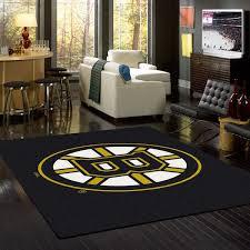 Nhl Area Rugs Boston Bruins Nhl Team Spirit Rug Fan Rugs