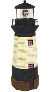 solar lighthouse decor w rotating beacon only 69 99 at garden