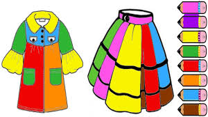 clothes coloring pages learning colors clothes for kids youtube