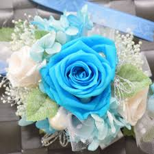 turquoise corsage wrist corsage wc14 turquoise panna cotta endura flora