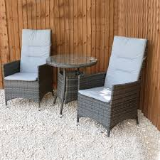 Grey Bistro Table Rattan Bistro Sets Outside Edge Metal Garden Furniture