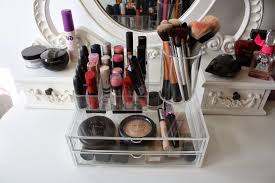 girlsgotaface muji acrylic drawers and makeup storage