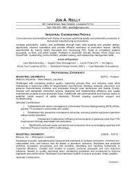 industrial engineering internship resume objective industrial engineer resume sle monster com