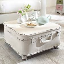 Vintage Table Ls Tea Time Shabby Chic White Distressed Coffee Table With