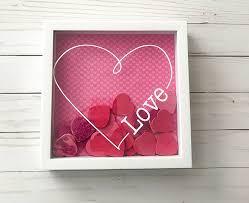 valentines decor easy diy decoration using a shadowbox