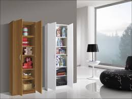 furniture high cabinet white small shelf with doors tall narrow