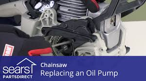 how to replace a chainsaw oil pump youtube