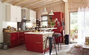 des cuisines en bois une cuisine blanc et bois leroy merlin
