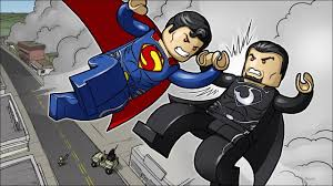 brickart lego man of steel superman vs general zod youtube