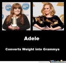 Adele Memes - adele converts weights into grammys by vricks meme center