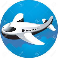 illustration aeroplane light blue background stock photo